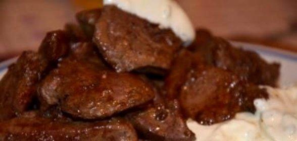Жареная говяжья печень с картошкой рецепт с пошагово