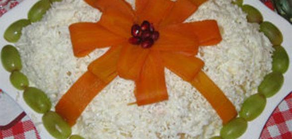 Салат подарок с курицей рецепт с пошагово