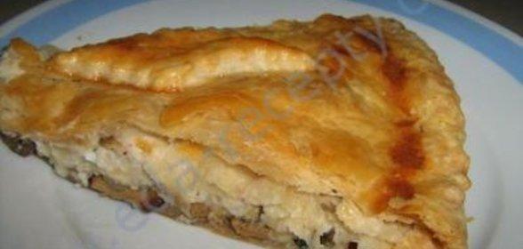 Пирог с грибами рецепты с пошагово в