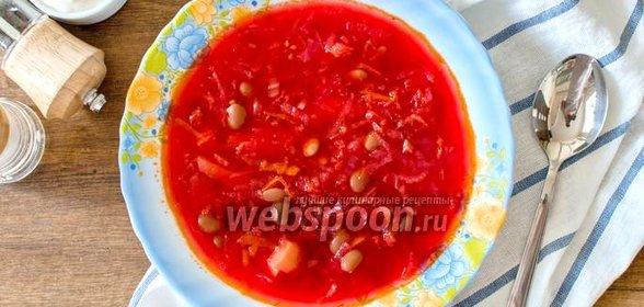 Постный борщ рецепт с пошагово