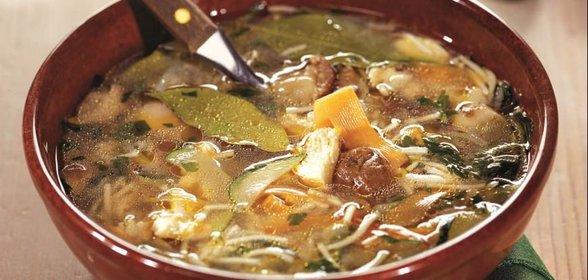 Грибной суп с вермишелью рецепт с фото