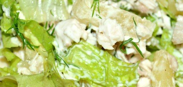 фото рецепт с салатом асберг