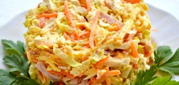 Простые салаты с корейской морковью на скорую руку