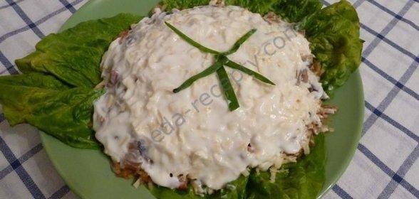 Салат из грибов с пошаговым фото