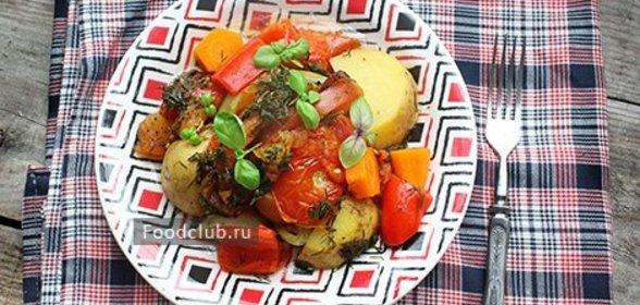 Овощное рагу в духовке рецепт пошагово