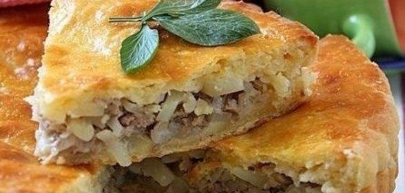 Пирог на кефире с мясом в духовке пошаговый рецепт с фото