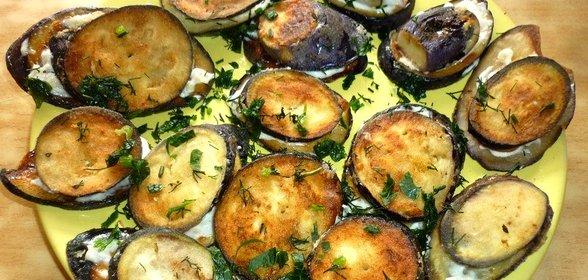 Рецепт баклажаны с чесноком в духовке рецепт