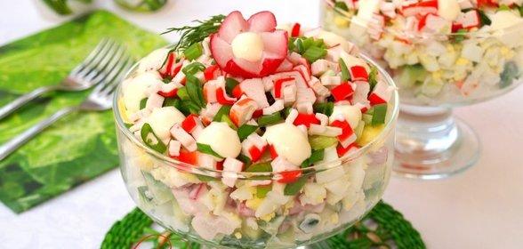 Как сделать салат с крабовыми палочками и кукурузой рецепт